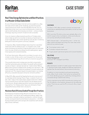 Case study ebay real time energy optimization and best practices in a mission critical data center