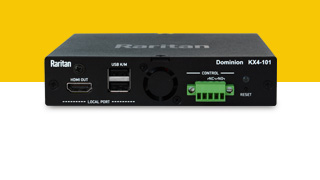 Introducing Raritan's fastest and most flexible remote access and management solution - The Dominion KX IV-101 Ultra High Performance 4K Single-Port KVM-over-IP Switch.
